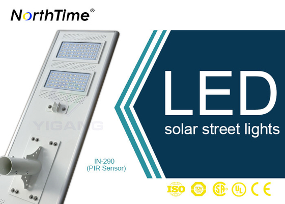 Chiny Bridgelux LED Chips Automatic Solar Street Light All In One Motion Sensor Control dostawca