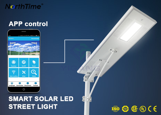 Chiny Dimmable Solar Energy Motion Sensor IP65 70W LED Street Lights Charge Controller dostawca