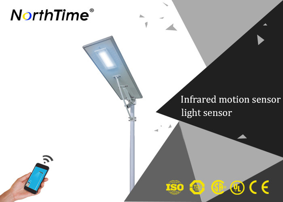 Pathway Intelligent LED Street Lamp With Mono Crystalline Solar Panels