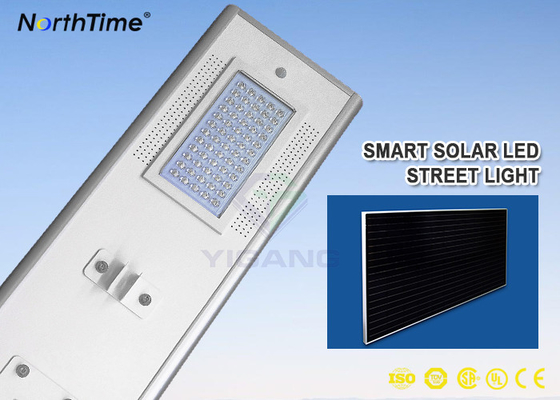 Chiny 7200LM Sunpower Solar Panel 18V 70W Automatic Dim Integrated Solar Street Light fabryka