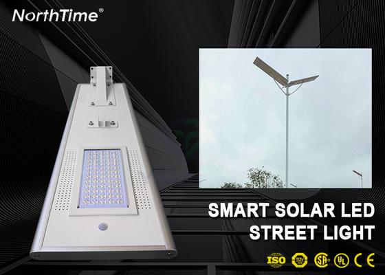 Chiny Dimmable 60W Solar Panel LED Street Lights With LiFePO4 Battery & Motion Sensor fabryka