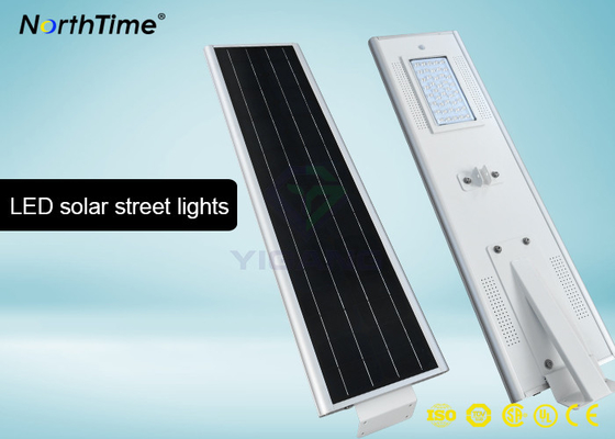 Chiny Bridgelux LED 40 W Motion Sensor Street Lights With 4 Days Back Up Battery 4700 - 4800LM fabryka