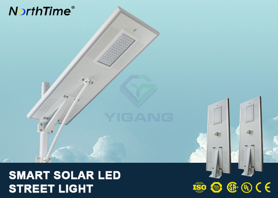 Chiny PIR Motion Sensor Street Lights With Solar Panel For Parking Lot 7500 - 8000LM fabryka