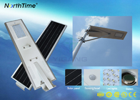 White / Warm White Bridgelux LED All in One Solar Panel Street Lights Can Work 7 Rainy Days